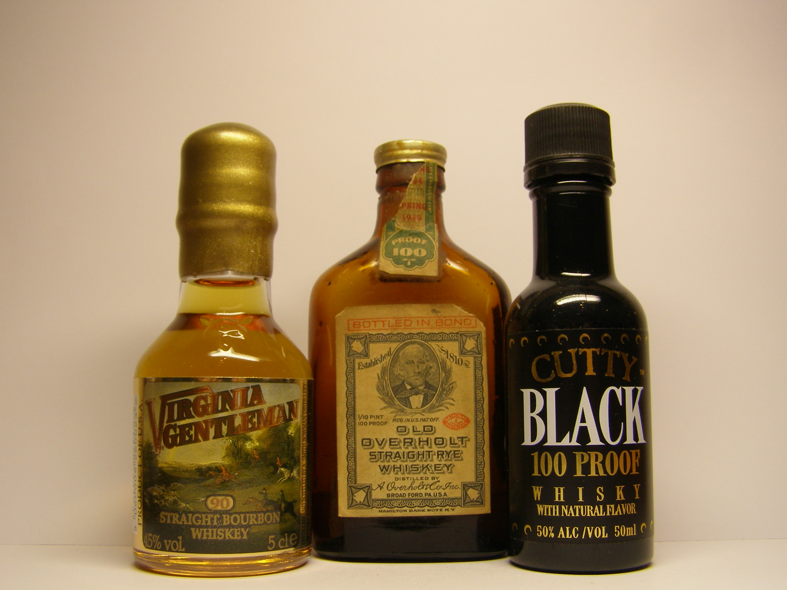 VIRGINIA GENTLEMAN , OLD OVERHOLT , CUTTY BLACK
