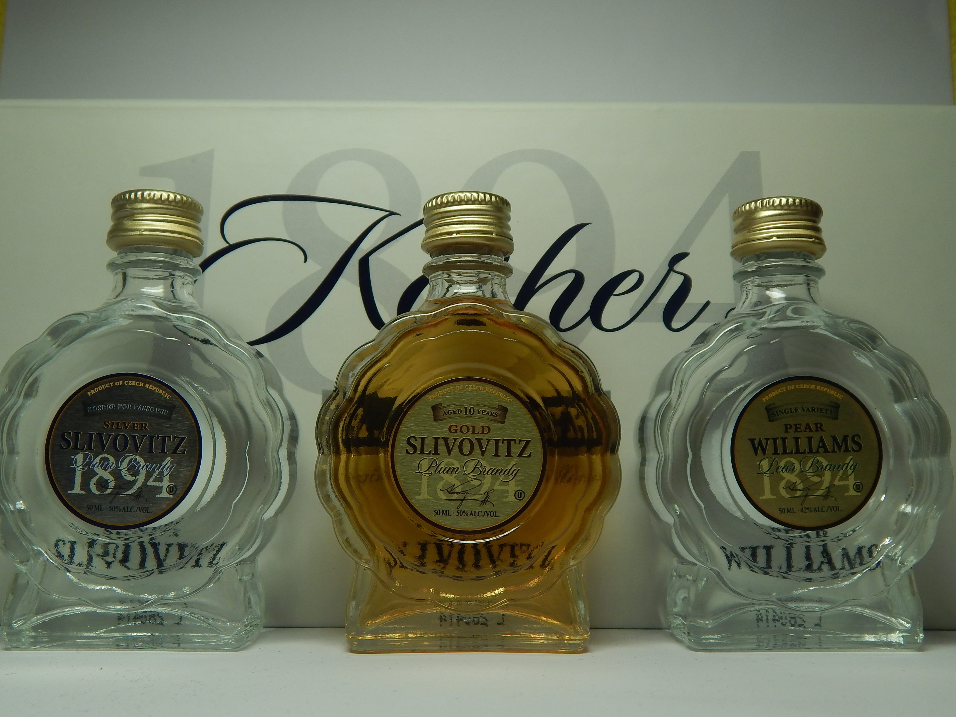 R.JELINEK 1894 Silver Slivovitz - Gold Slivovitz - Pear Williams